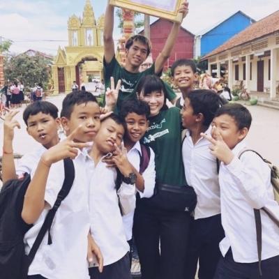 カンボジアでチャイルドケア&地域奉仕活動 田中杏実